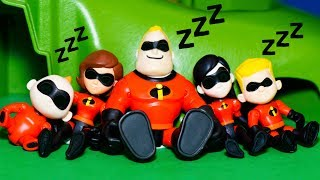 Incredibles 2 put to sleep by PJ Masks Romeo who Takes their Super Powers