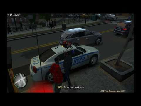 GTA IV - LCPDFR - New York Police Department Dodge Charger