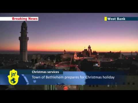 Christmas Eve in Bethlehem: Thousands of worshippers flock to Jesus' birthplace