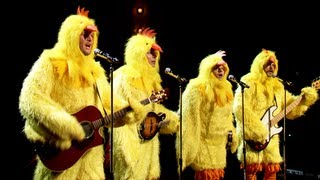 "The Chickeneers Video All-Clucking Version Of ""Ho Hey"" (Jimmy Fallon, Blake Shelton & Nick Offerman)"