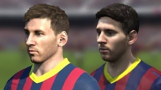 FIFA 14 Vs PES 14 Head To Head Faces (3 Angles View