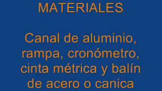 MOVIMIENTO RECTILINEO UNIFORME MRU CON CANAL EPDSA CLN SIN