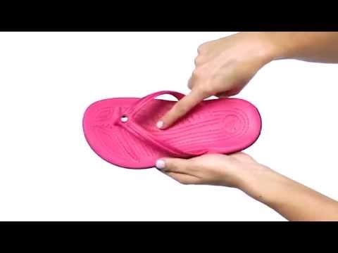 Crocs Crocband Flip Black, lightweight comfort with circulation nubs for blood flow stimulation