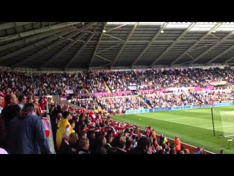 Saints fans at Swansea 2014