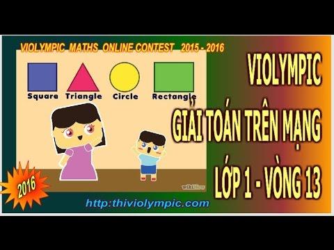 Violympic Giải toán trên mạng Lớp 1 Vòng 13 năm 2016