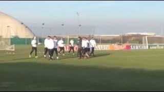 Allenamento Juve prima della sfida contro la Dinamo Zagabria