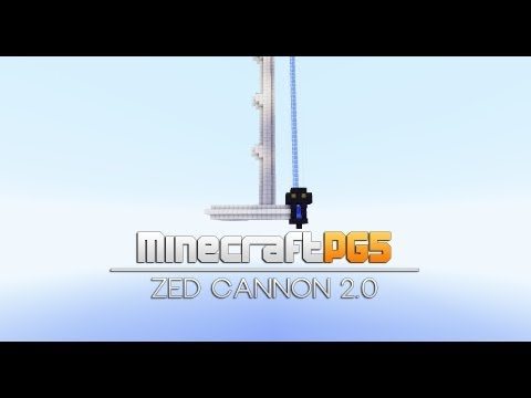 Rapid Fire TNT Cannon - Zed Cannon 2.0 - Minecraft