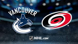 Hurricanes use fast start to down Canucks, 4-1