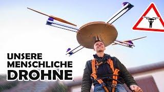 Wir bauen ein DROHNEN - JETPACK!   Unsere menschliche DIY Drohne #2