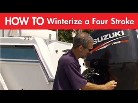 how to winterize a four stroke outboard motor youtube