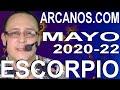 Video Horóscopo Semanal ESCORPIO  del 24 al 30 Mayo 2020 (Semana 2020-22) (Lectura del Tarot)