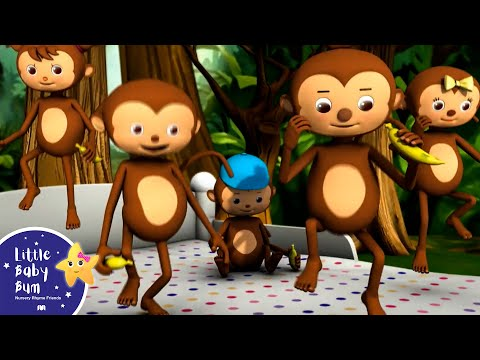 Five Little Monkeys Jumping On The Bed | High Quality Animation HD