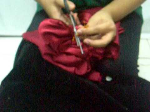 bunga dari kain dengan pola mov youtube