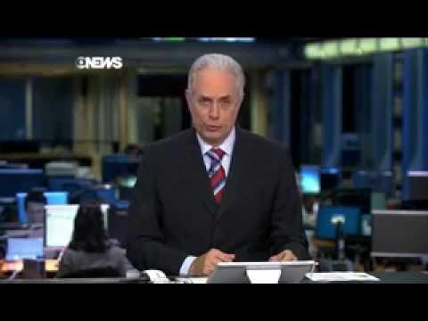 """Zileide Silva se confunde e leva 'bronca' de William Waack no """"Jornal da Globo"""" 07/08/2014"""