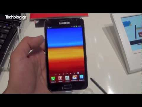 Samsung Galaxy Note hands-on IFA 2011 (Greek)