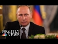 Kremlin Spokesman: 'No Doubt' Vladimir Putin Is Happy Donald Trumps Election | NBC Nightly News