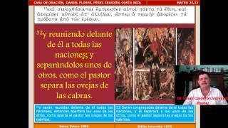 Estudio Bíblico 071 Mateo 25,31-46 El Juicio Final Y El
