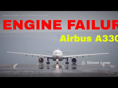 Jet engine explodes on runway, Airbus A330.