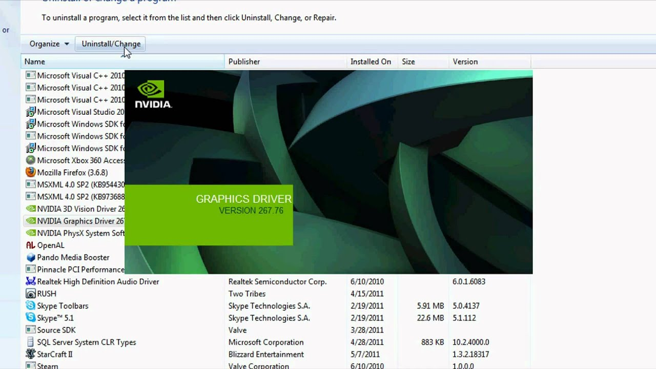download nvidia driver uninstaller