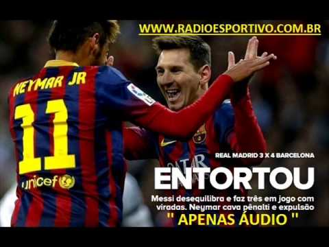 Real Madrid 3 x 4 Barcelona - Narración: Antonio Muelas y Germán García ( RNE ) 23/03/2014