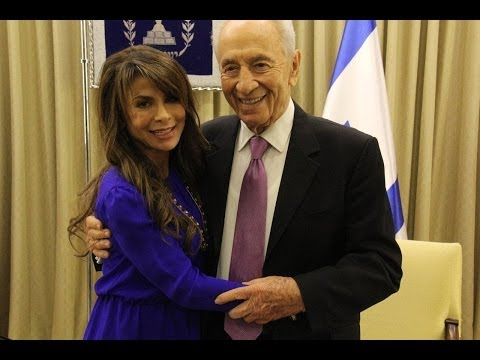 President Peres to the international star Paula Abdul: