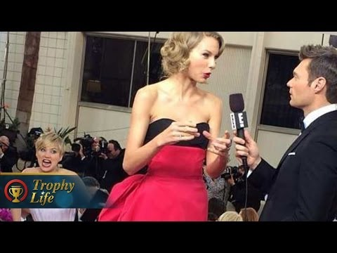 Jennifer Lawrence Photobombs Taylor Swift, Kisses Nicholas Hoult at Golden Globes 2014!