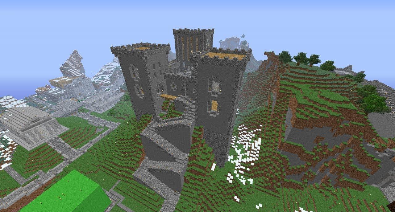 Minecraft Mountain Castle - YouTube
