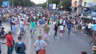 [Dancing Protesters at Massive Protest in Sofia 24.06.2013 in...]