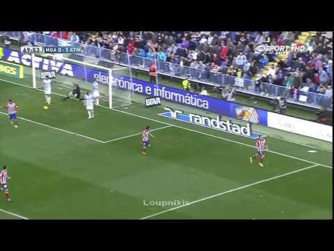 Koke Goal Malaga vs Atletico Madrid 0 1 {4 1 2014}