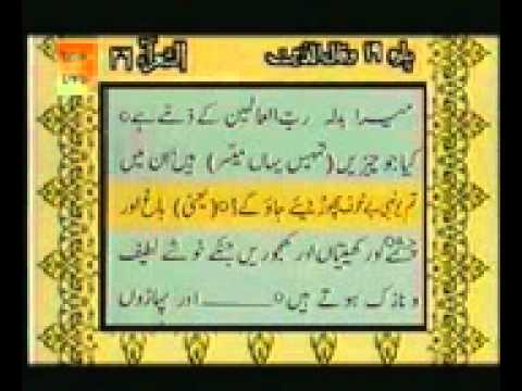 Complete Holy Quran part 19/30 by Sheikh Shuraim & Sudais vs Urdu translation