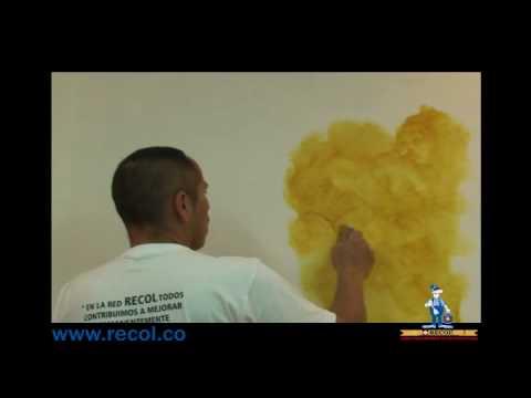 Pintura decorativa efecto cristal