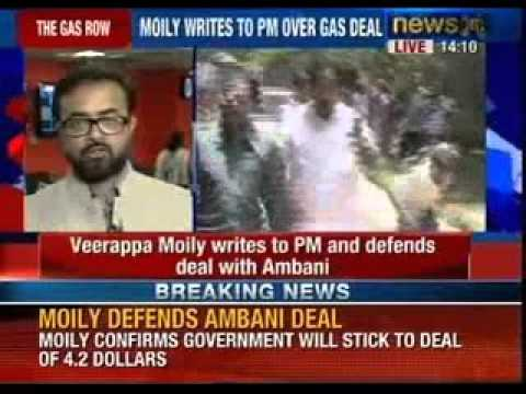 Veerappa Moily writes to Prime minister over gas deal with Reliance