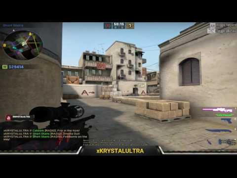 CS:GO Smoke practice dust 2 + tips and tricks for bombsite B