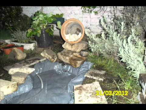 Como hacer una fuente en el jardin youtube for Como organizar mi jardin