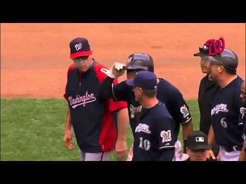 Benches clear in Milwaukee after Carlos Gomez slide