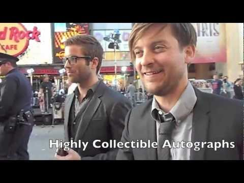 Tobey Maguire greeting fans at Rock of Ages premiere - YouTube Tobey Maguire Moviefone