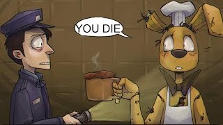 Springtrap's Cooking VS The Nightguard! (Five Nights at Freddy's FNAF Comic Dub Compilation)
