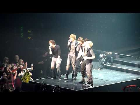 One Direction singing Grenade at X Factor tour - 5.3.11
