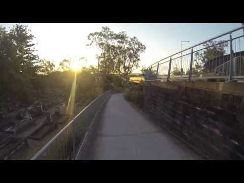 Biking around UQ campus, St Lucia