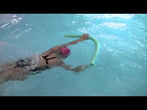Using a Pool Noodle to Practice the Freestyle Stroke Arm Pull