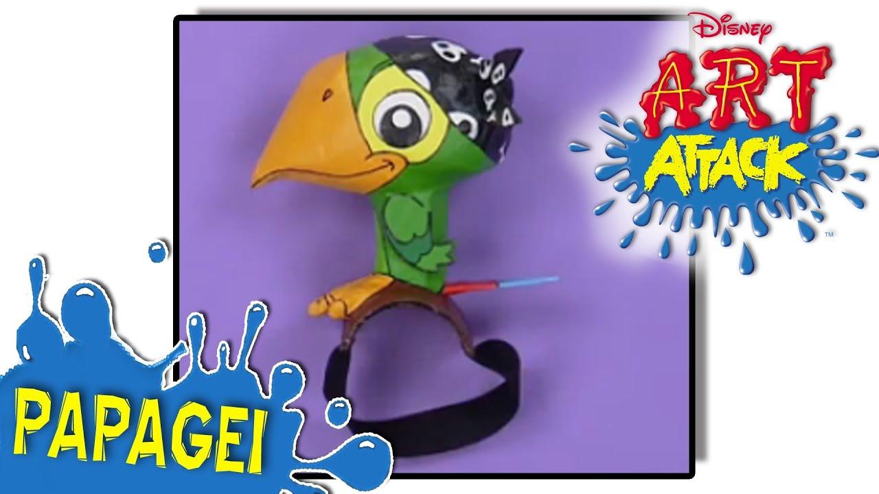 Disney junior art attack papagei youtube - Manualidades art attack ...
