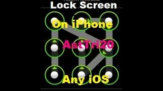 How To Get Android Lock Screen IPhone 5/4s/4/3Gs/3, IPad