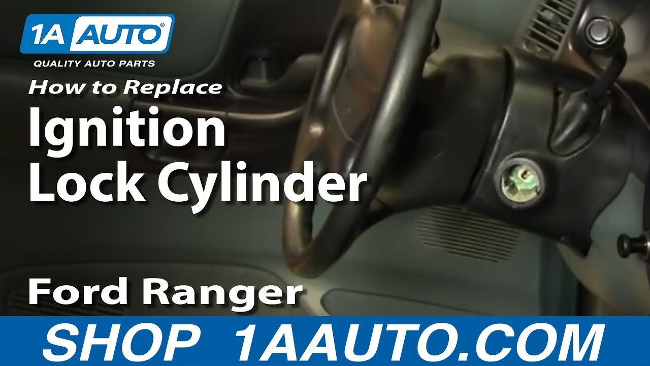 How To Install Replace Worn Out Sticking Ignition Key Lock Cylinder Ford Ranger 90
