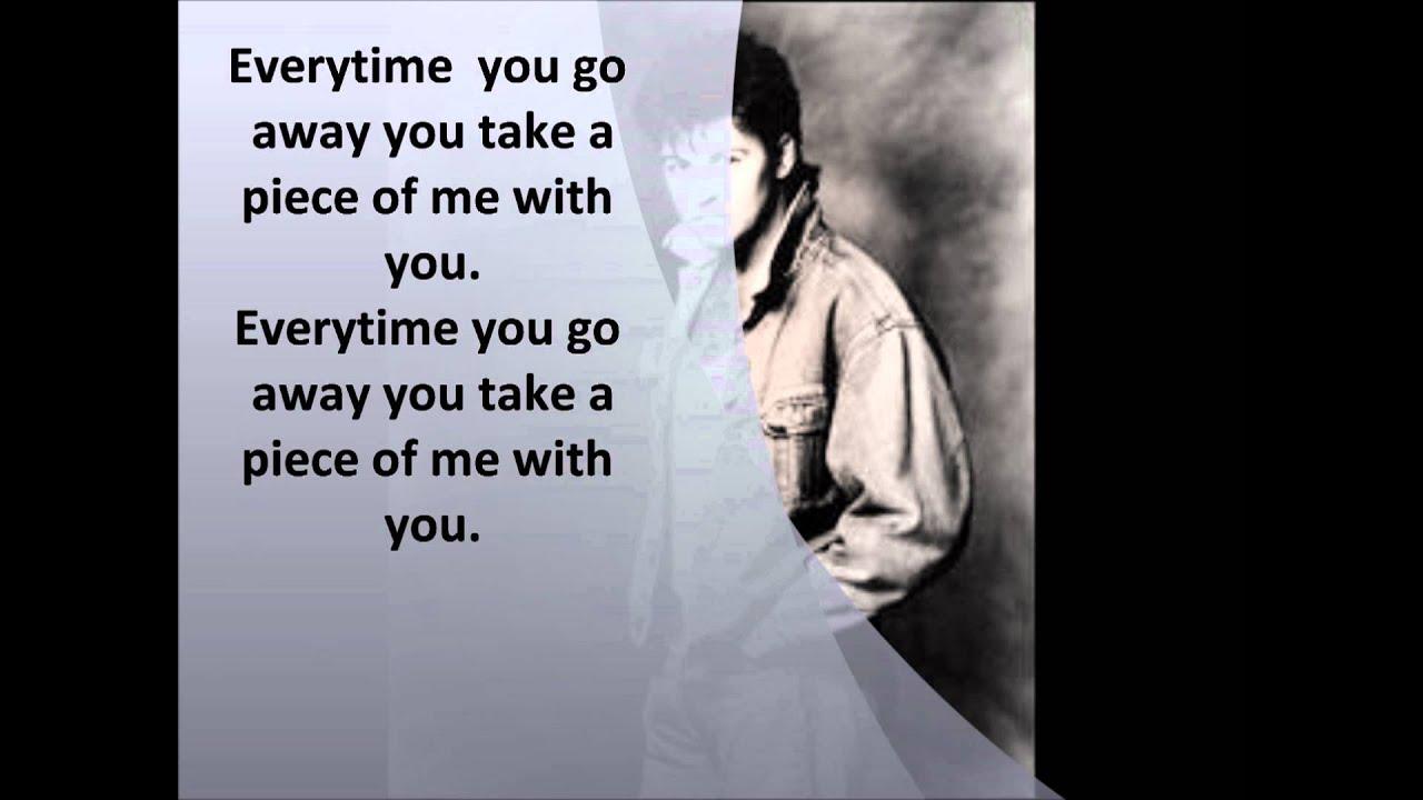 Letra Traducida de Paul Young - Everytime you go away