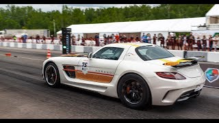 800 HP Mercedes SLS AMG vs Lamborghini Huracan. DragTimes info video - Драгтаймс инфо видео.