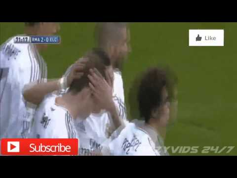 Real Madrid 3 - 0 Elche | Full Goals and Highlights | 22/02/14