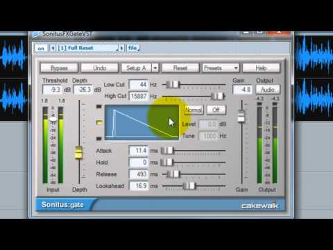 How To Clean A Voice Track Using the Sonitus Noise Gate In Cakewalk Sonar