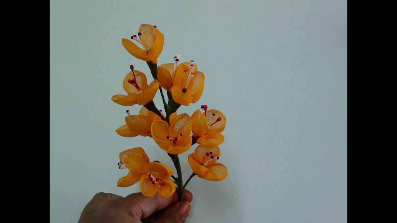 Diy Organdy Flower Bouquet - YouTube