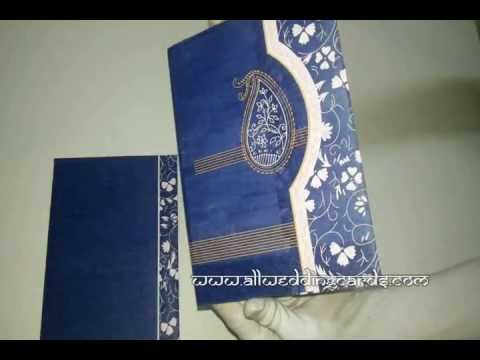 W-4772B, Blue Color, Wooly Paper, Indian Cards, Indian Traditional Cards