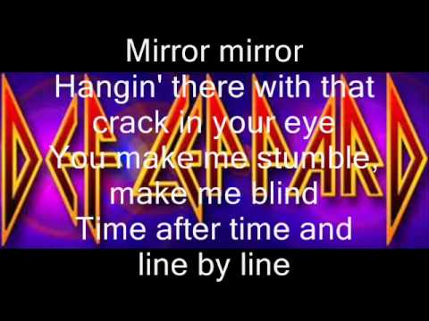 Mirror mirror def leppard lyrics video youtube for Mirror mirror lyrics